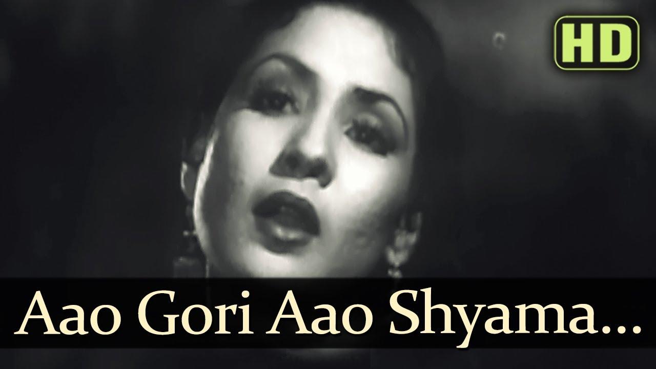 Aao Gauri Aao Shyama Lyrics - Khursheed Bano