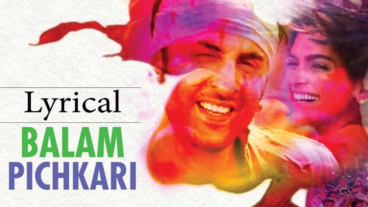 Balam Pichkari Lyrics - Shalmali Kholgade, Vishal Dadlani
