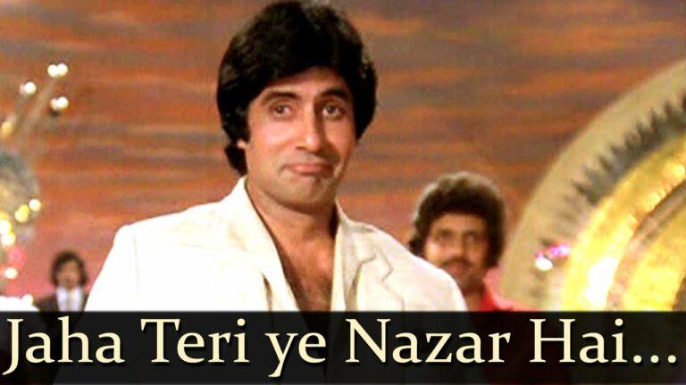 Jahaan Teri Ye Nazar Hai Lyrics - Kishore Kumar