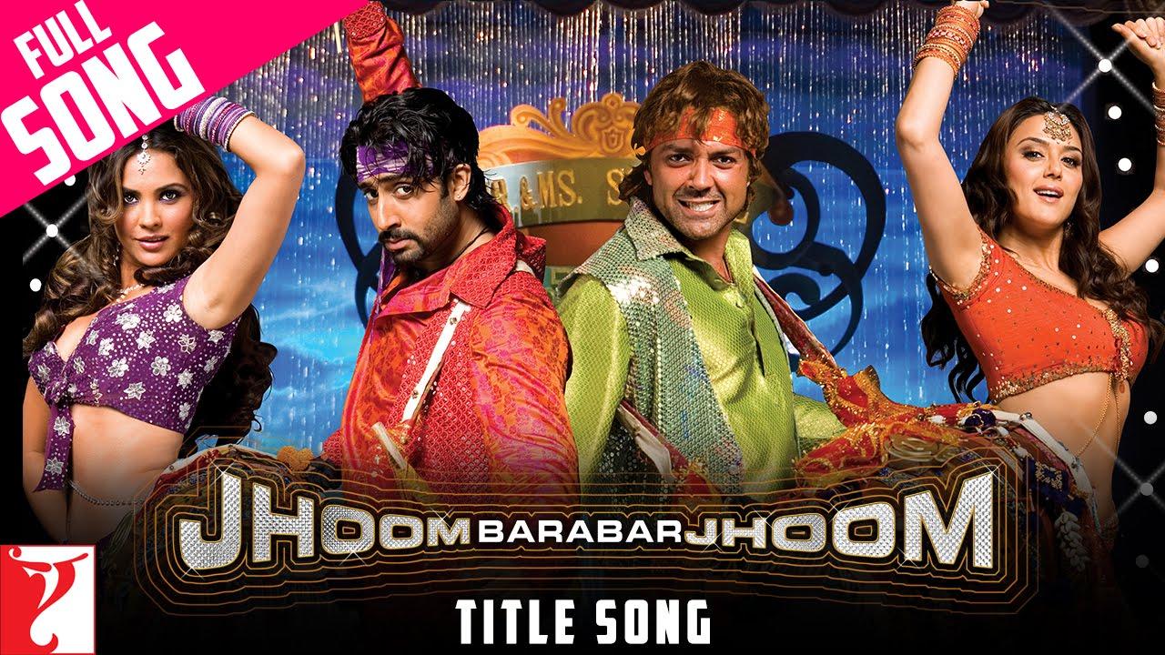 Jhoom Barabar Jhoom (Title) Lyrics - Krishnakumar Kunnath (K.K), Mahalakshmi Iyer, Shankar Mahadevan, Sukhwinder Singh