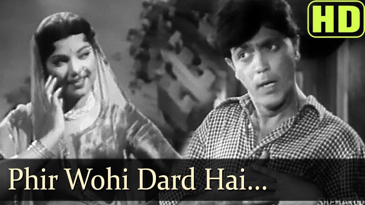 Phir Wahi Dard Hai Lyrics - Prabodh Chandra Dey (Manna Dey)