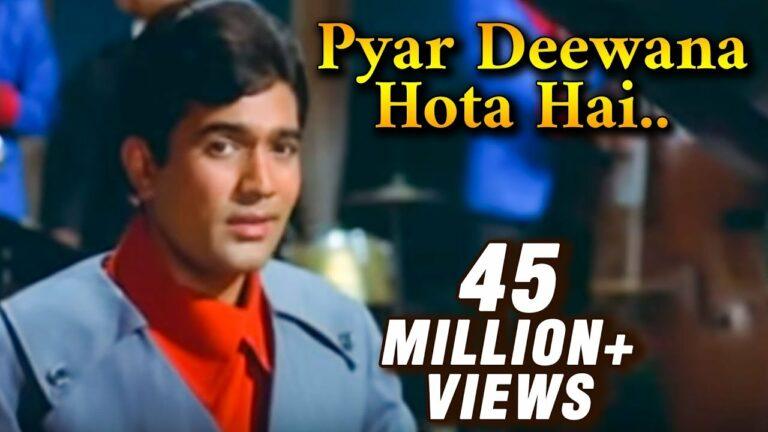 Pyaar Deewana Hota Hai Lyrics - Kishore Kumar