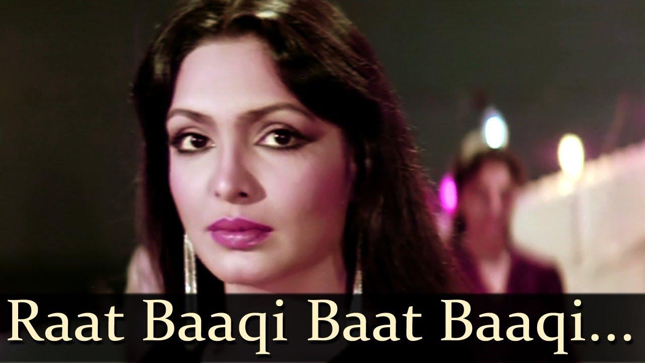 Raat Baki Baat Baki Lyrics - Asha Bhosle, Bappi Lahiri, Shashi Kapoor