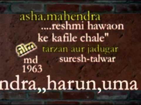Reshmi Ghatao Ke Lyrics - Asha Bhosle