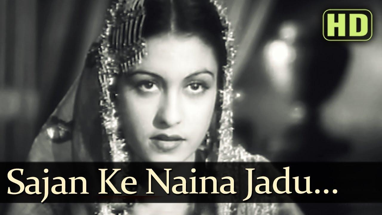 Saajan Ke Naina Jaadoo Baan Lyrics - Amirbai Karnataki, Mumtaz