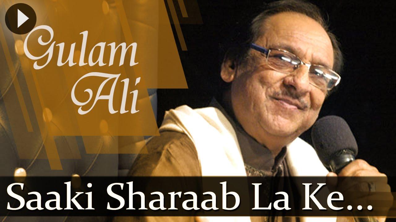 Saqi Sharab La Ke Lyrics - Ustad Ghulam Ali