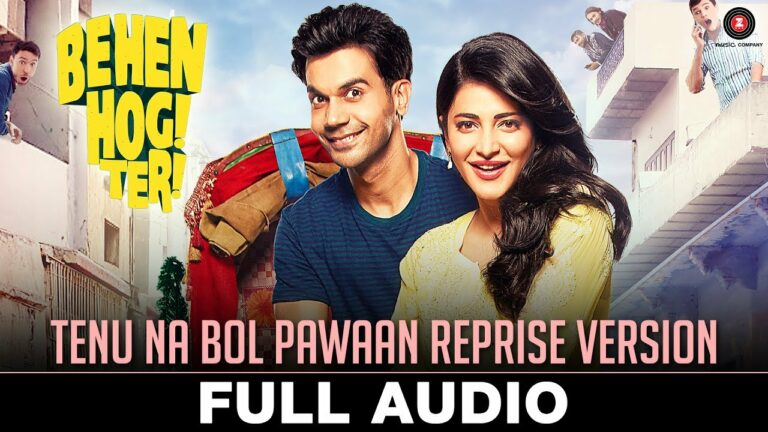 Tenu Na Bol Pawaan (Reprise) Lyrics - Asees Kaur
