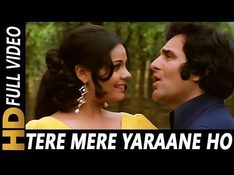 Tere Mere Yaraane Ho Lyrics - Lata Mangeshkar, Mohammed Rafi
