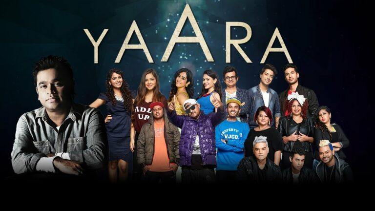 Yaara Lyrics - Raaga Trippin, Maati Baani, A.R. Rahman, Arjun Kanungo, Jonita Gandhi, Mumbai's Finest, Sanah Moidutty, Sanam Puri, Shraddha Sharma, Siddharth Slathia