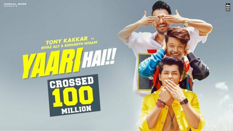 Yaari Hai (Title) Lyrics - Tony Kakkar