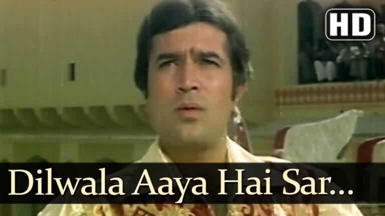 Dilwala Aaya Hai Lyrics - Kishore Kumar