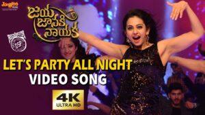 Let's Party All Night Lyrics - Prudhvi Chandra, M.M. Manasi