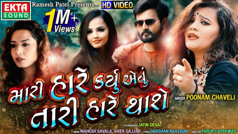 Mari Hare Karyu Aevu Tari Hare Thase Lyrics - Poonam Chaveli