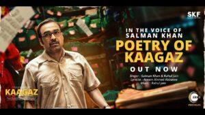 Poetry Of Kaagaz Lyrics - Rahul Jain, Salman Khan