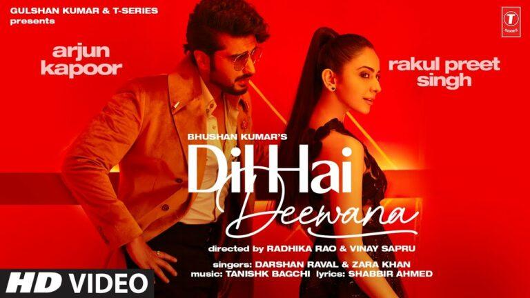 Dil Hai Deewana Lyrics - Darshan Raval, Zara Khan
