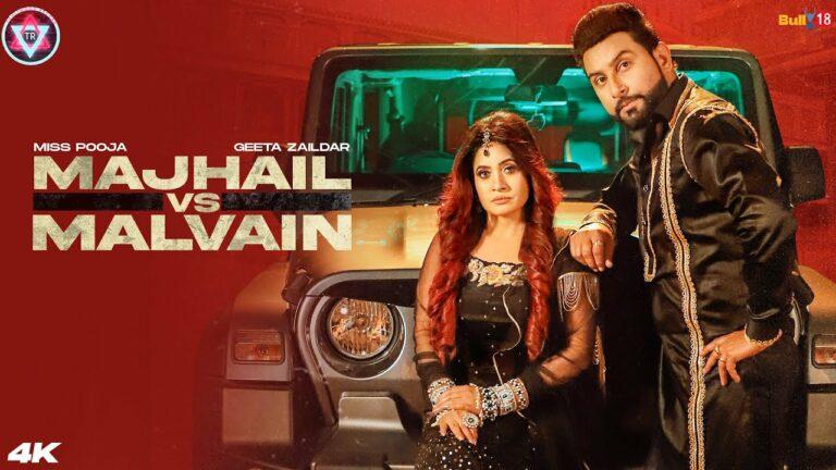 Majhail Vs Malvain Lyrics - Miss Pooja, Geeta Zaildar