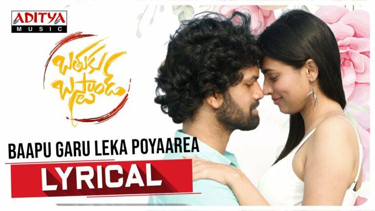 Baapu Garu Leka Poyaarea Lyrics - Karthik