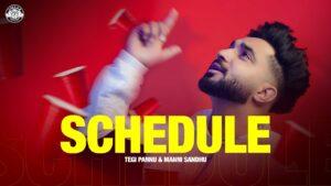 Schedule Lyrics - Tegi Pannu