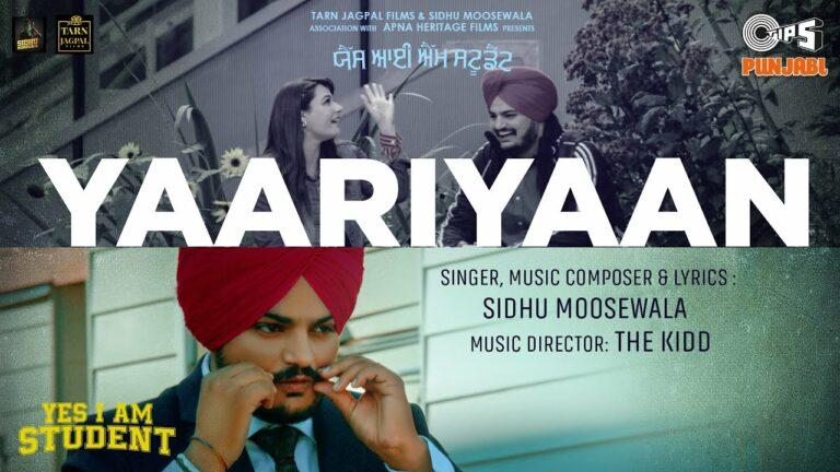 Yaariyaan Lyrics - Sidhu Moose Wala